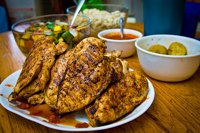 Simple, good and Grilled Moroccan Chicken