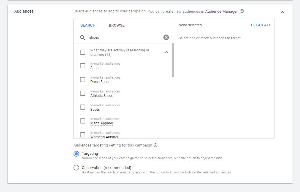 Google Ads Targeting
