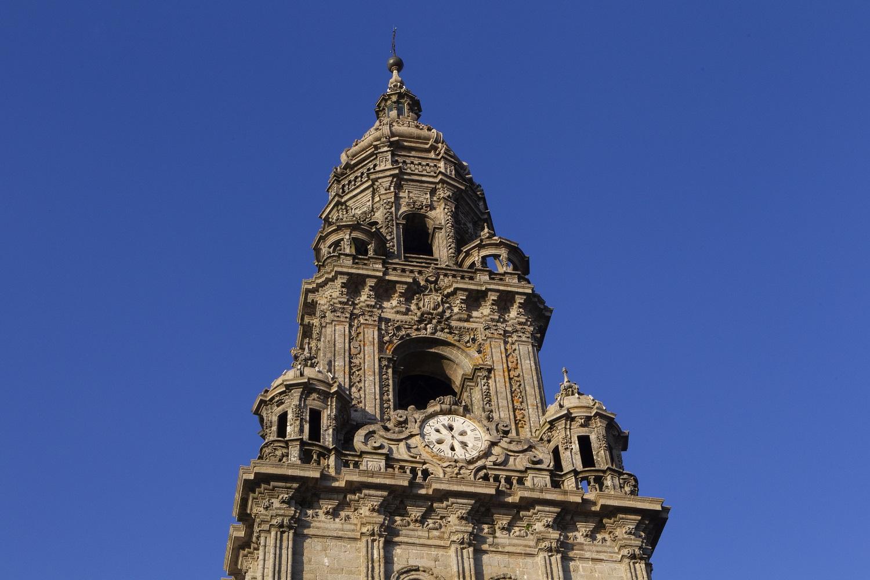 La Torre del reloj y la Berenguela de la Catedral de Santiago