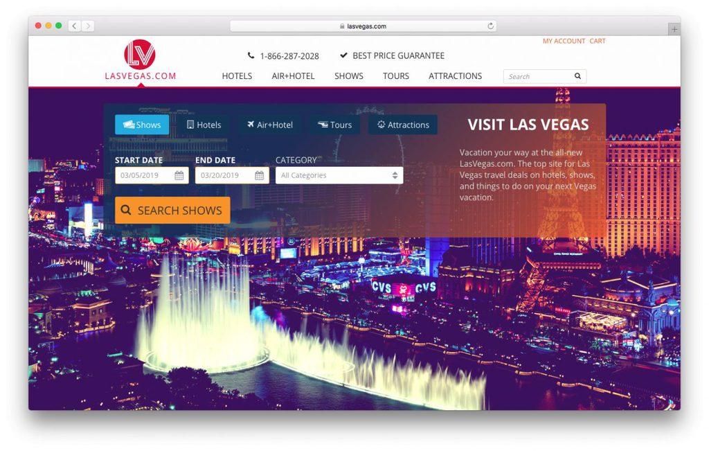 vender domínios antigos, como o lasvegas.com, é uma das ideias de negócios online