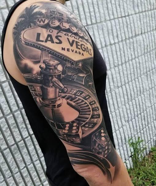 Las Vegas tattoo. Image source: Pinterest