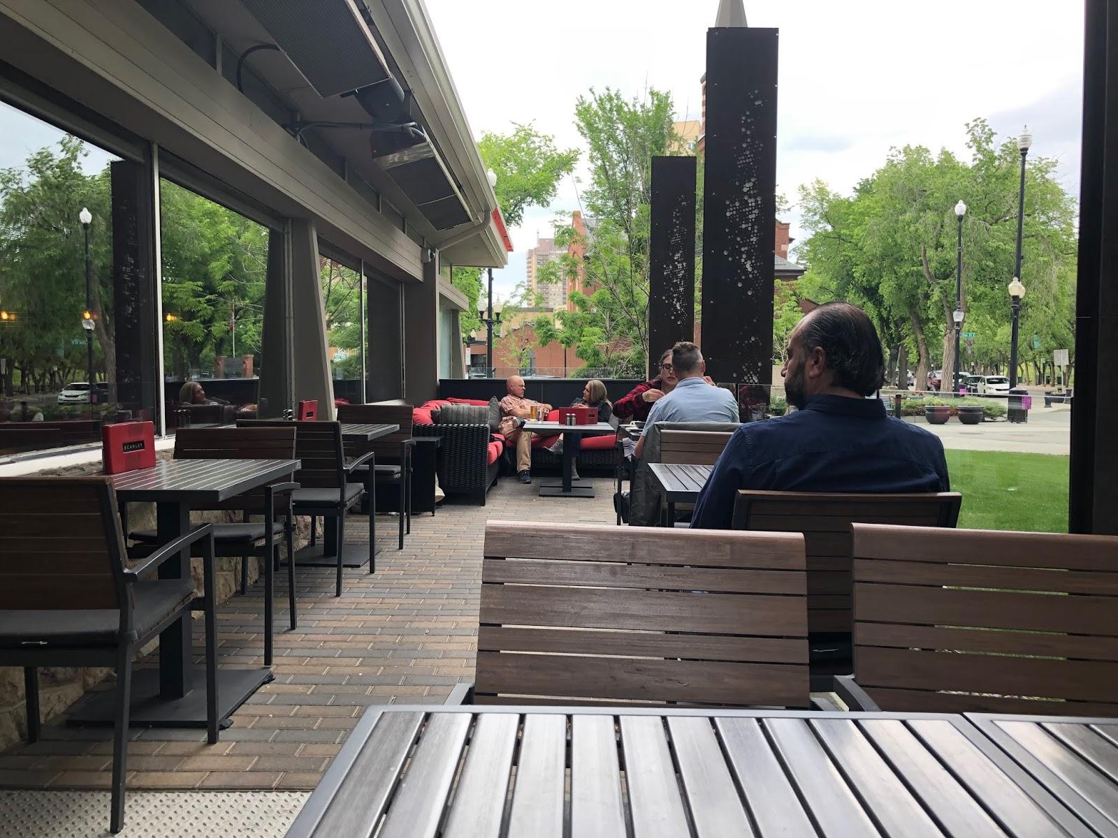 scarlet patio