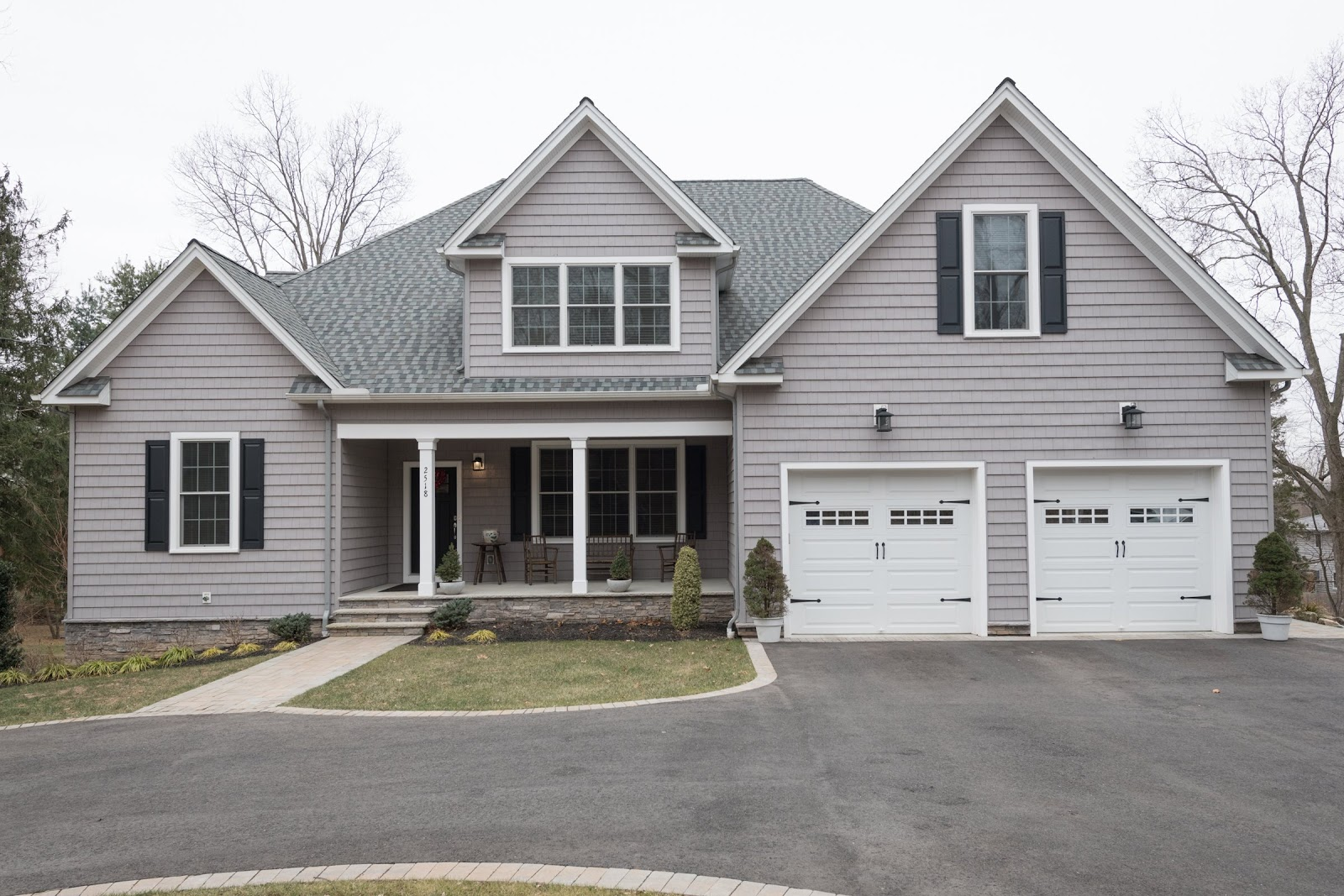 grey paneled custom built home by GTG builders in new jersey