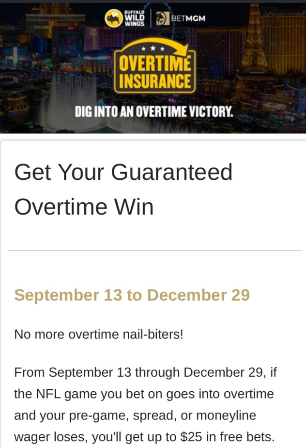 betmgm overtime insurance nfl betting