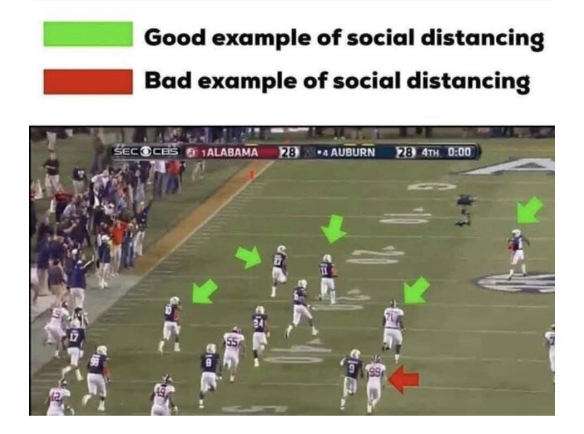 social distancing meme