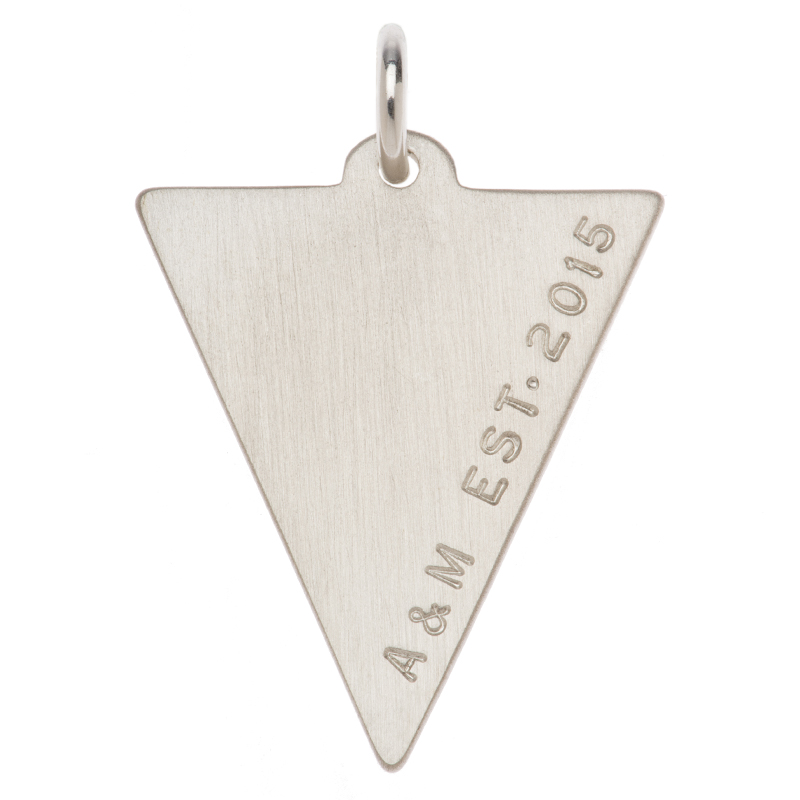 Triangle Pendant by Citrus Silver