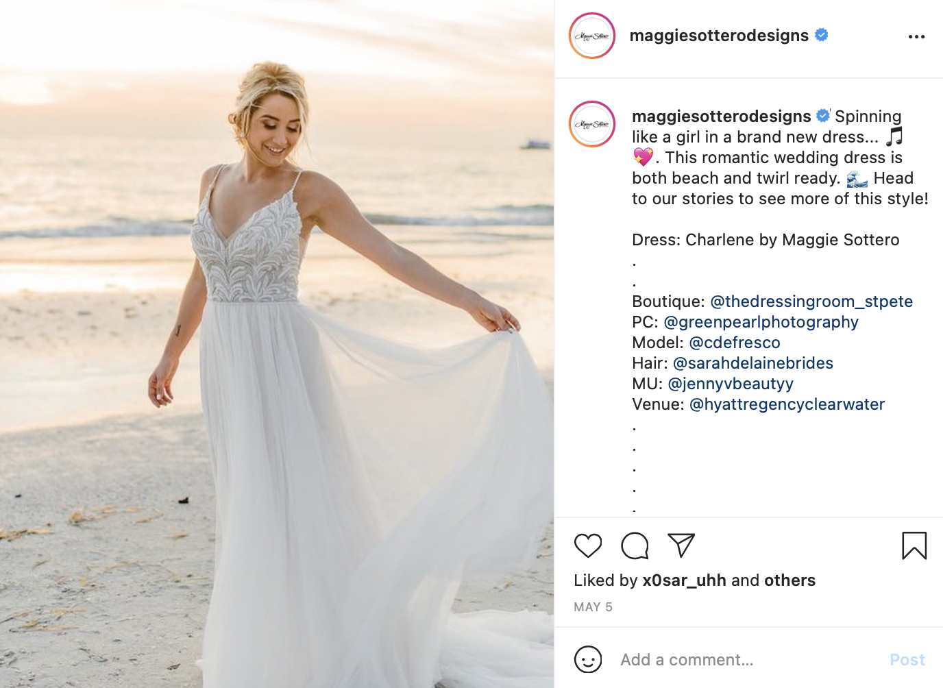 lighter dress for beach wedding