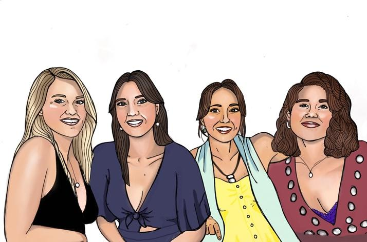 A group of women smiling  Description automatically generated with medium confidence