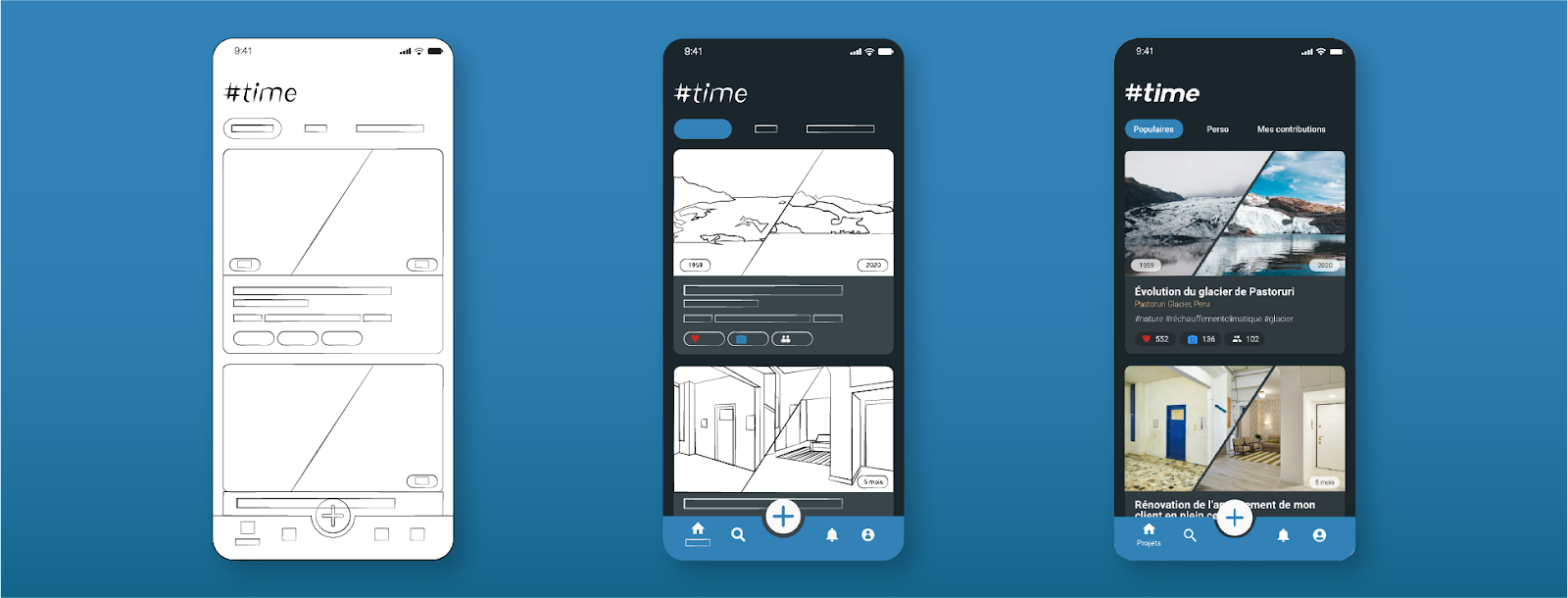 UX / UI design mockup illustration