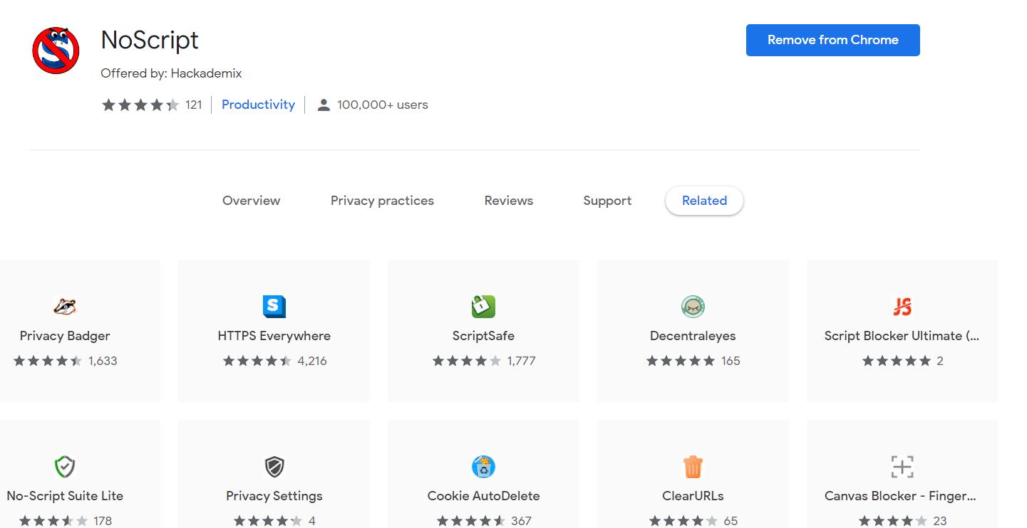 Noscript - Best Free Ad Blocker Software