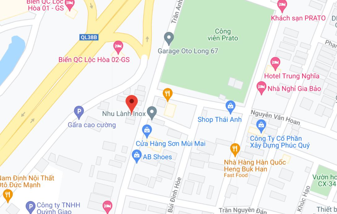 Địa điểm đón/trả khách tại Nam Định