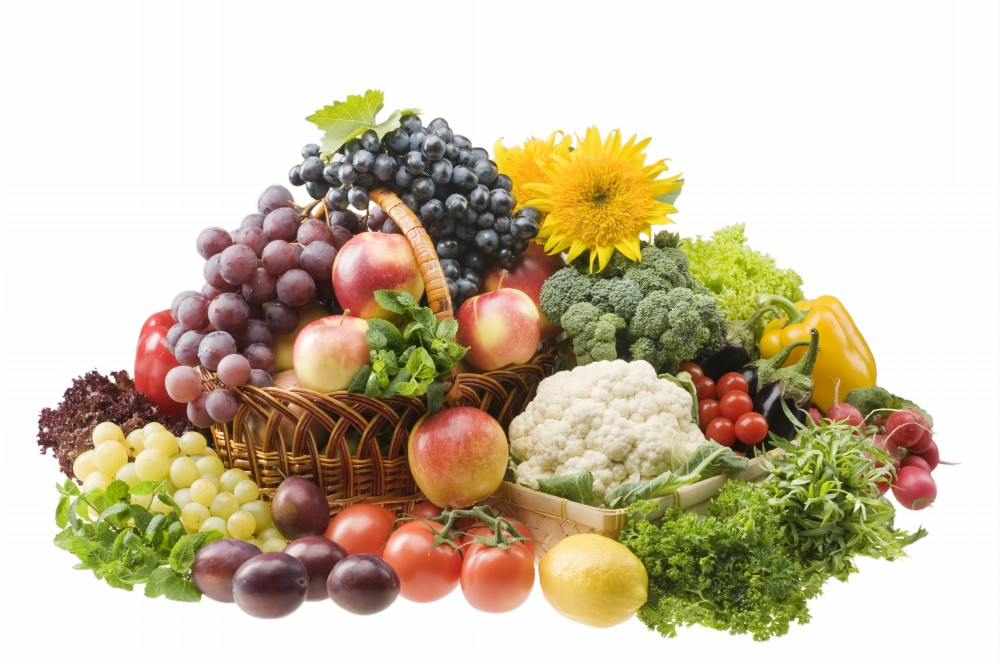 Image result for basket of fruits and vegetables