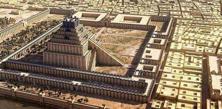 Risultati immagini per ziggurat nabucodonosor