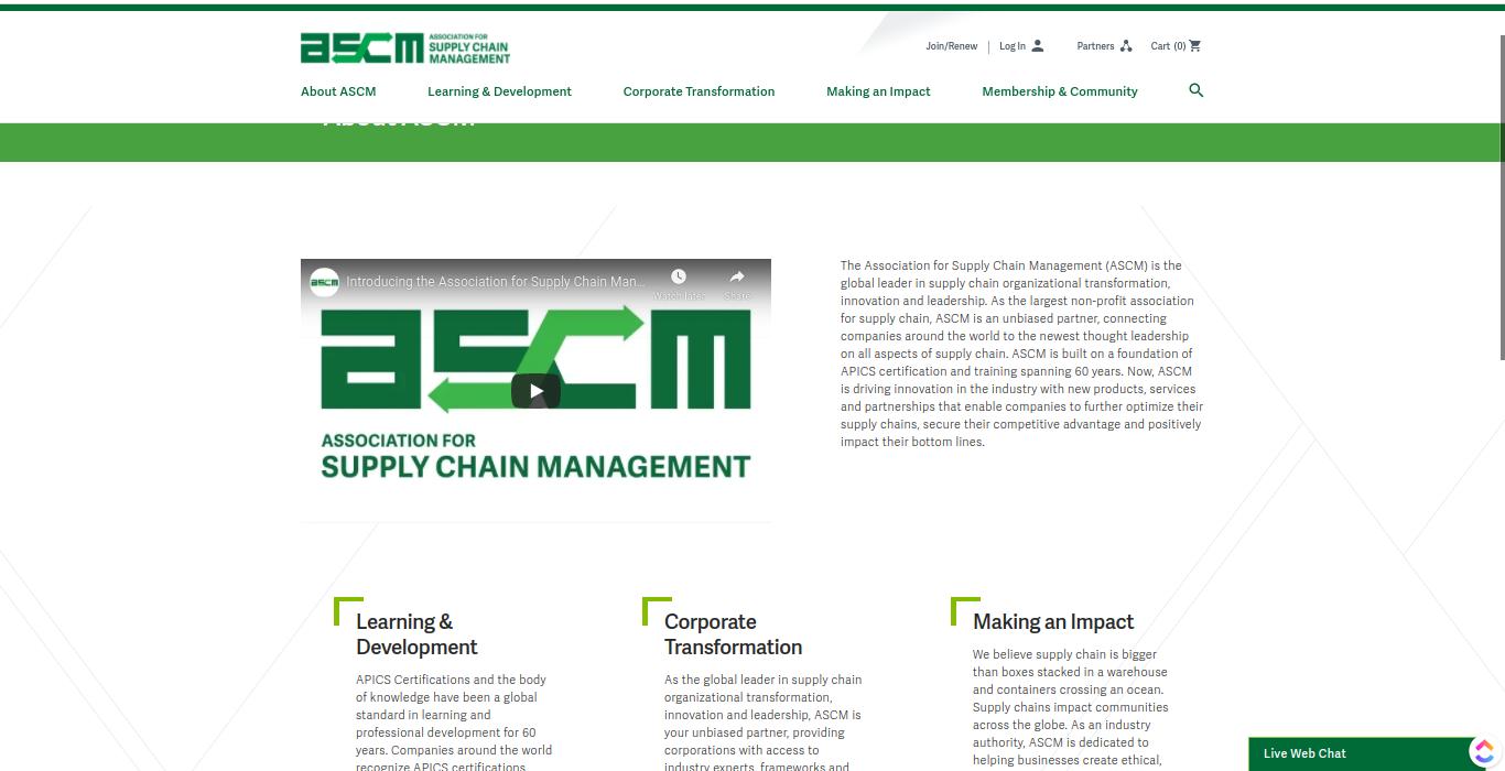 Online supply chain management resource.