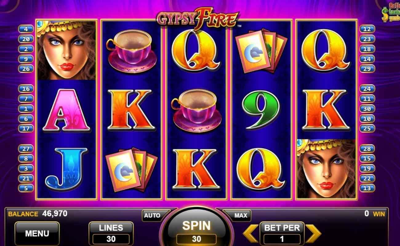 Gypsy Fire by Konami online slot casino game