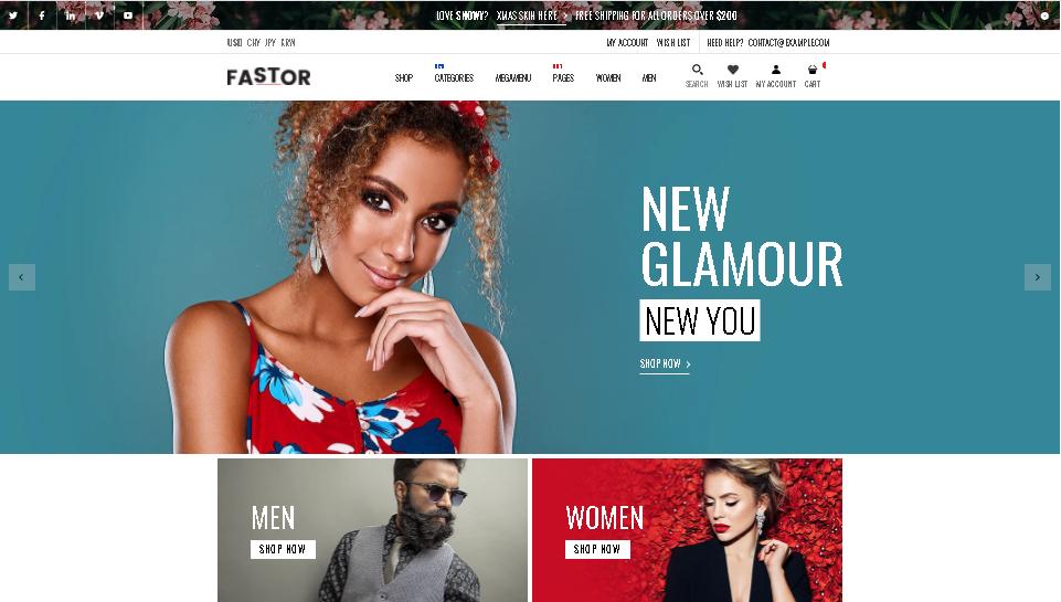 Fashion shopify theme fastor
