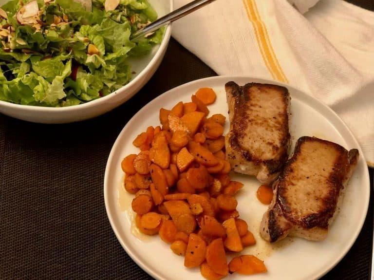 Harissa-Glazed Pork Chop by Green Chef