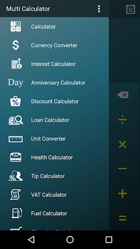 Multi Calculator- screenshot thumbnail