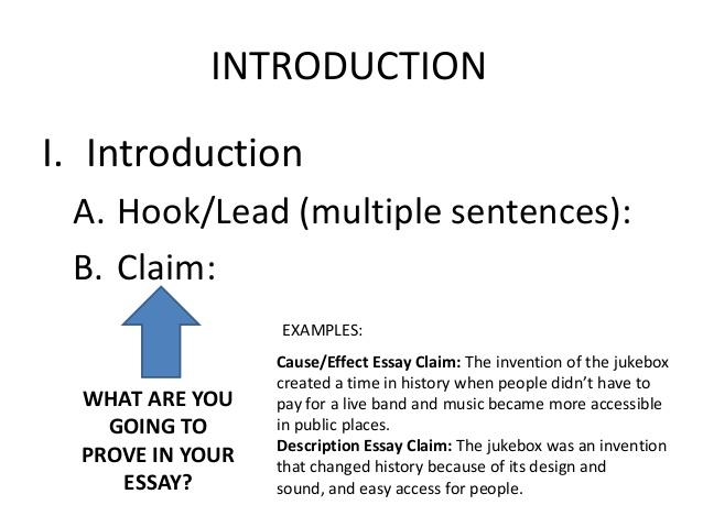 How to make a claim in an essay