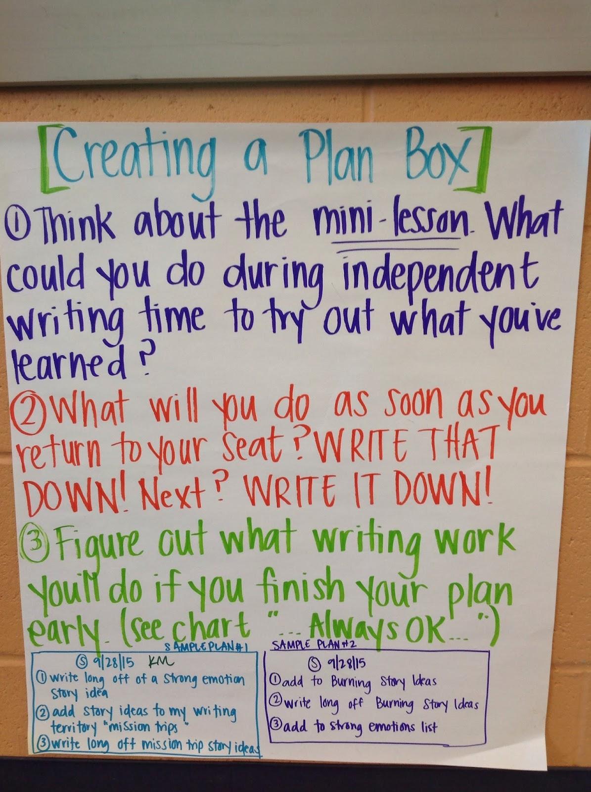 creating a plan box