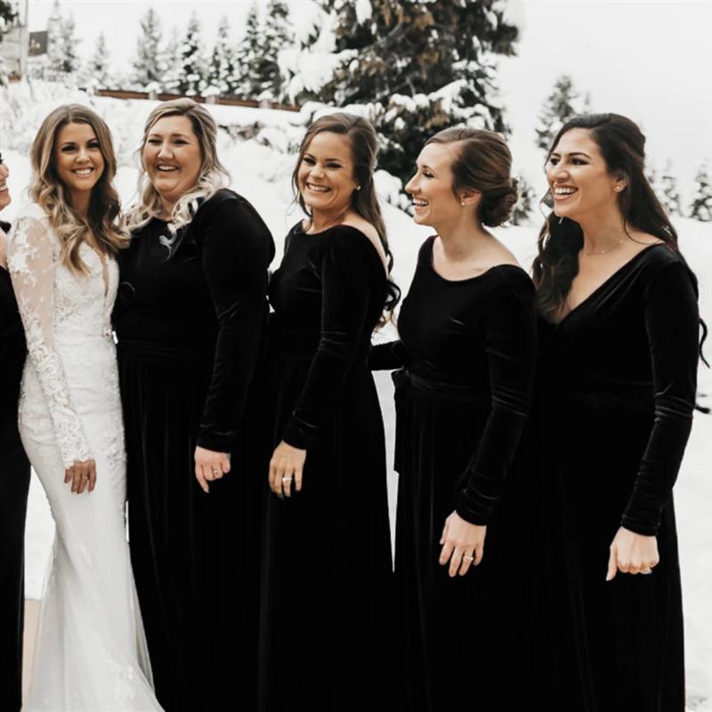 velvet-bridesmaid-dress