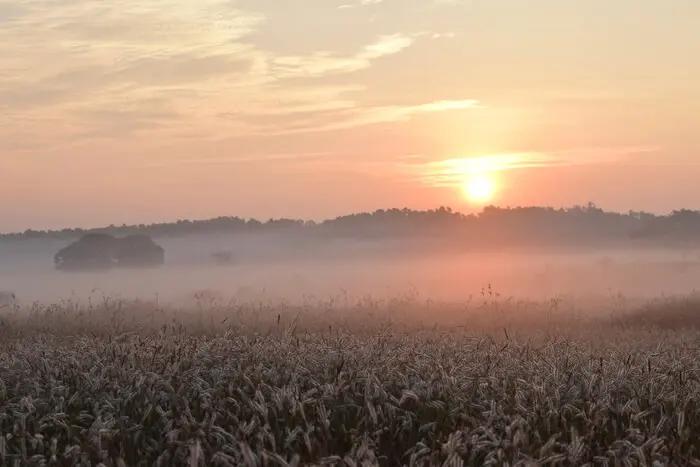 Sun rising in the Belgaum