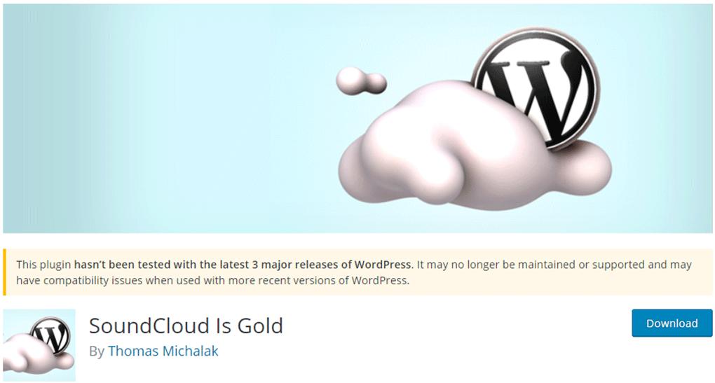 plugin soundcloud is gold para  reprodução de áudio no wordpress