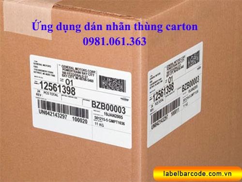 giấy in mã vạch dán nhãn thùng carton