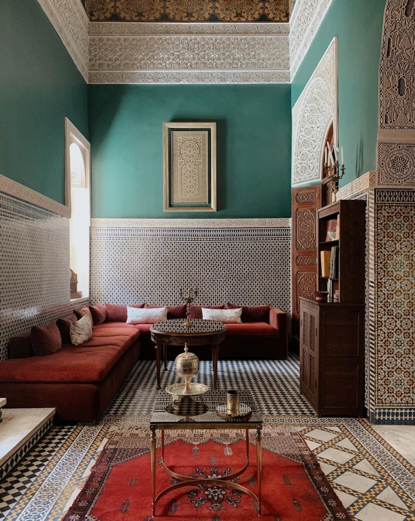 Gaya desain interior ala Maroko - source: Instagram.com/ginagoesto