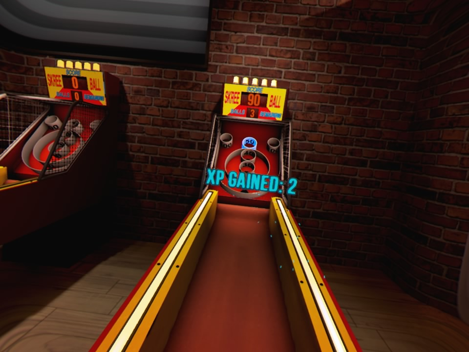 VR Sports Bar Skeeball