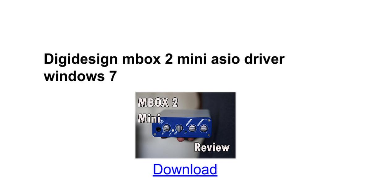 Digidesign mbox 2 driver windows 8