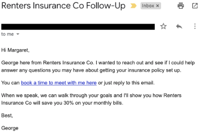 cold outreach email template example