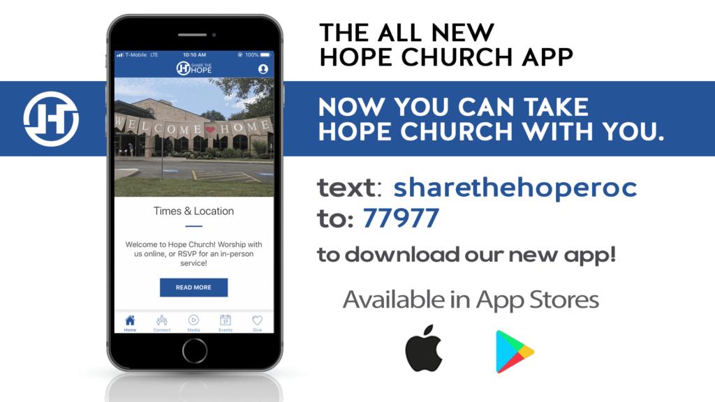 text sharethehoperoc to 77977