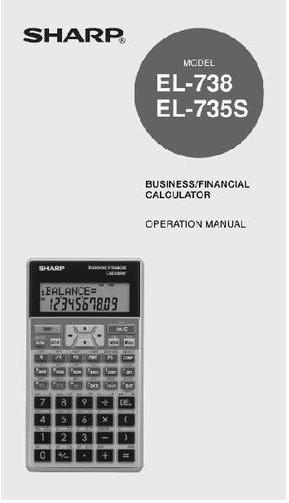 original new sharp el 738 el 735s financial calculator english rh ebay com au