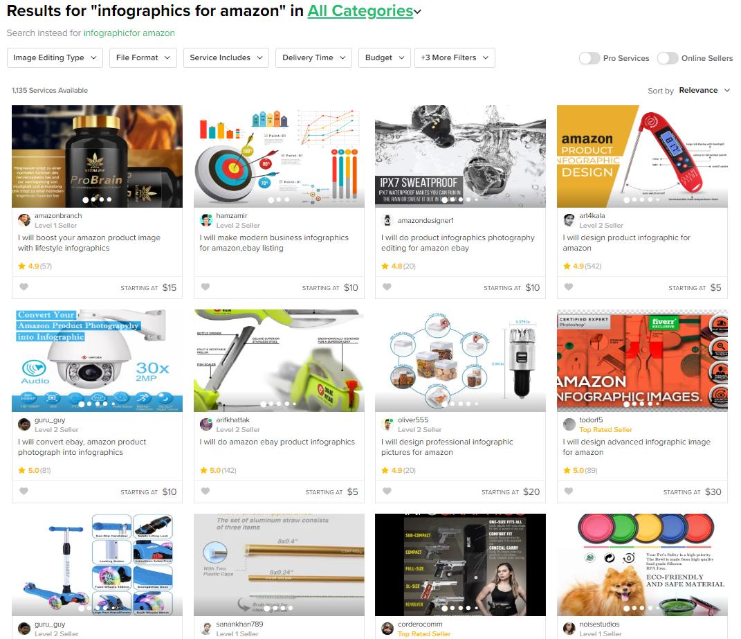 Amazon Info graphics on Fiverr