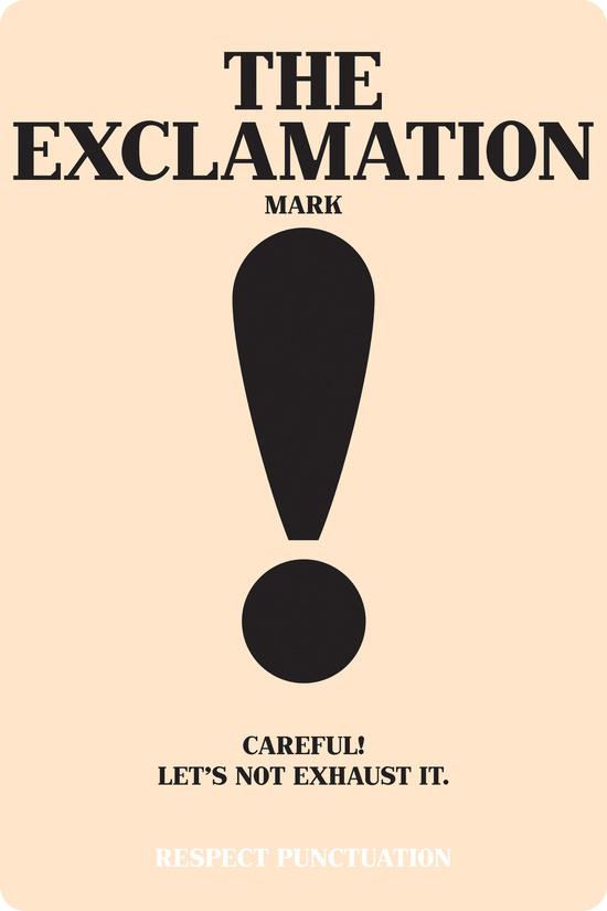 le point d'exclamation de la ponctuation en anglais. Apprendre comment les utilisent.