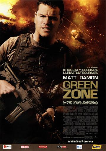 Przód ulotki filmu 'Green Zone'