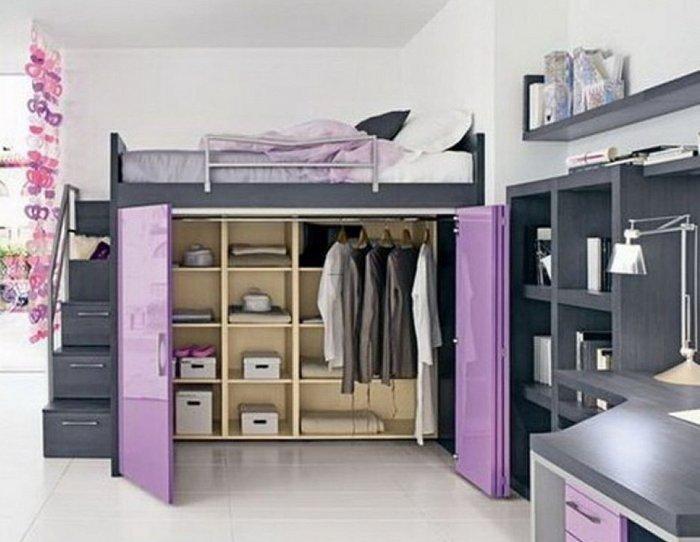 các mẫu giường tầng kết hợp tủ quần áo