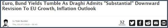 L'euro et rendements des bunds chutent suite à l'admission par Mario Draghi d'une croissance européenne revue à la baisse