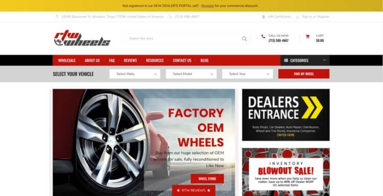 automotive e commerce RTW wheels