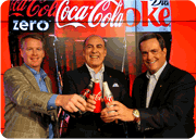 Steve Cahillane, Muhtar Kent and Sandy Douglas