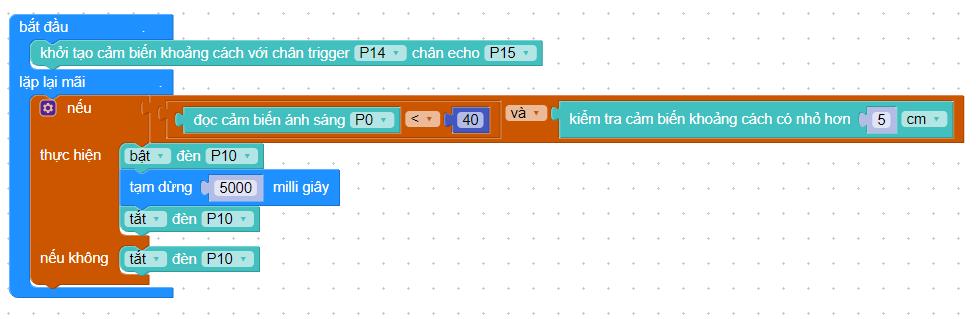 Code lập trình đèn thông minh