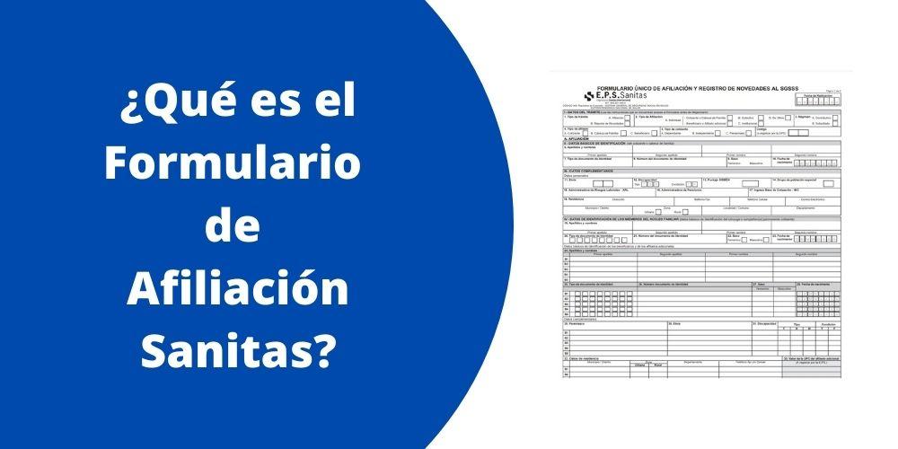 Qué es el Formulario de Afiliación Sanitas