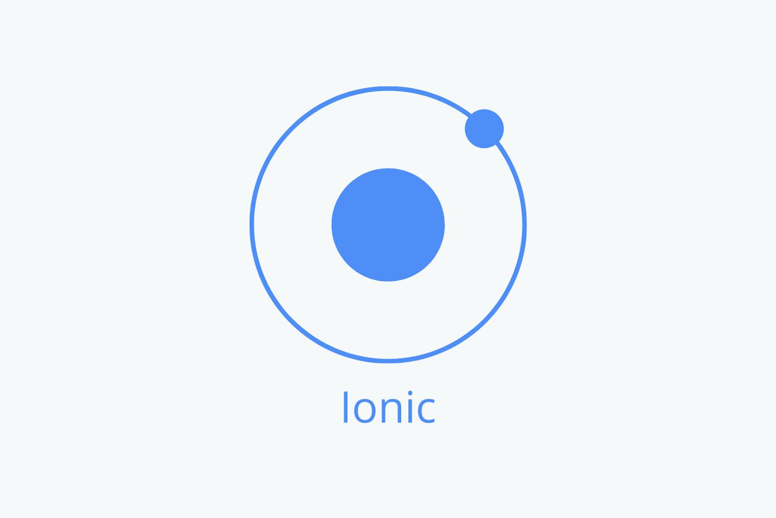 Ionic mobile app development framework