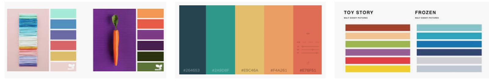 """Puoi trovare infinite combinazioni di colori su Google, basta cercare """"palette colori"""" in Google Immagini."""