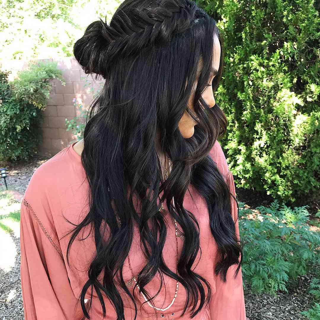 Chic waterfall braided hair