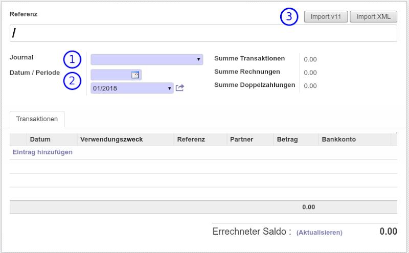 Odoo 8 - Anleitung - Finanzen