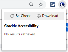 Click to grade the accessibility of the current page.