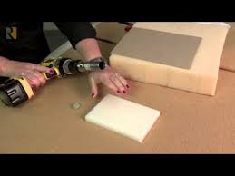 Image result for someone cutting foam into circle