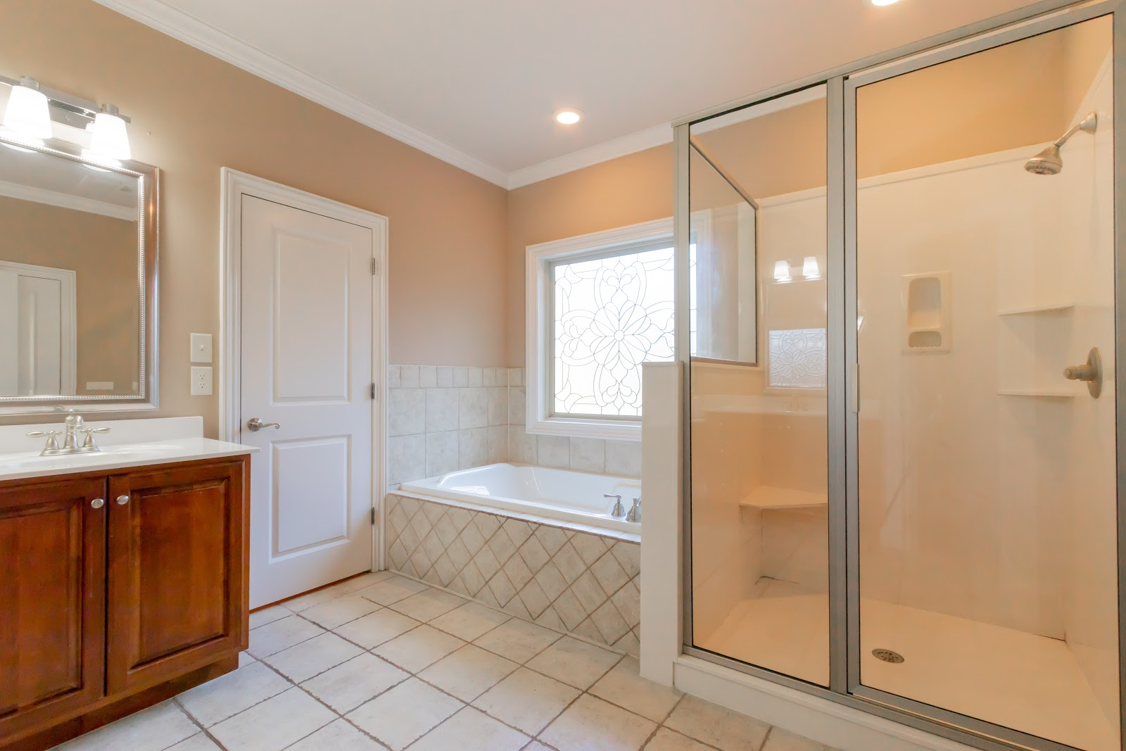 Cleaning the bathroom so it shines is the first step in staging your master bathroom